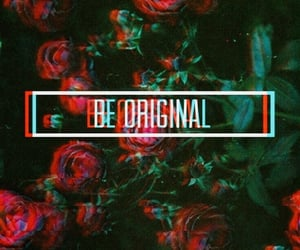 be original, red aesthetic, and floral grunge image