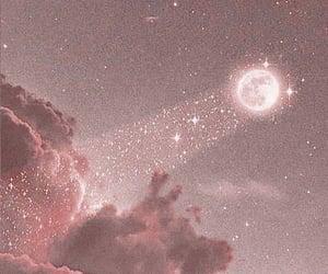 moon, pink, and wallpaper image