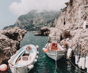 travel, summer, and boat image