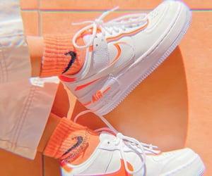 nike, orange, and fashion image