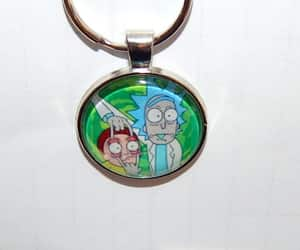 etsy, cartoon necklace, and rick and morty logo image