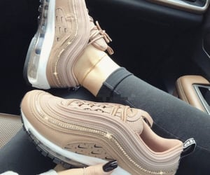 air max, black nails, and jewelry image