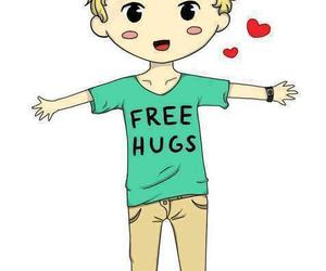 niall horan, one direction, and free hugs image