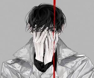 art, grey background, and illustration image
