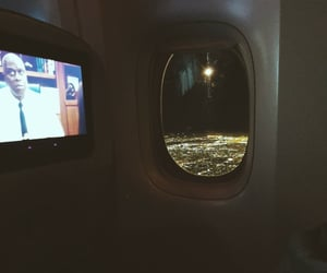 city lights, airplane view, and airplane image