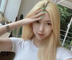 asian, blonde, and korean image