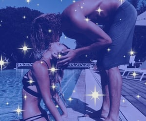 blue, pool, and couples image