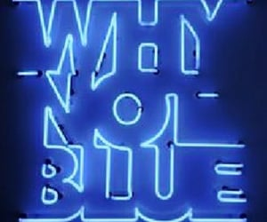 neonsign, blue, and neon image