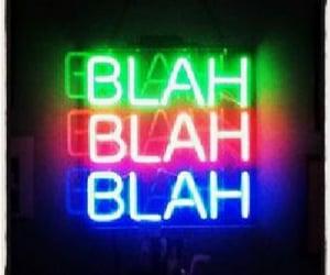 neon, blahblahblah, and neonsign image