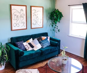 couch, decor, and eclectic image