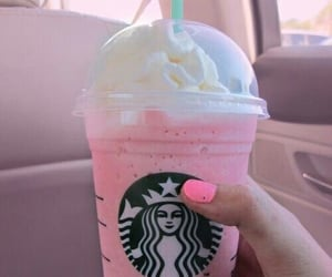 starbucks, frapuccino, and strawberry image