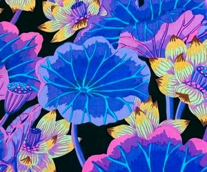 background, blue background, and floral wallpaper image