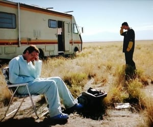 walter white, breaking bad, and aaron paul image