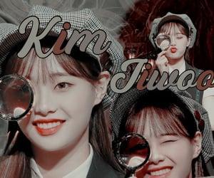 background, kim jiwoo, and edited theme image
