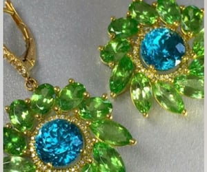accessories, green and blue, and jewellery image