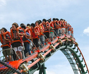 amusement park, scary, and carnival image