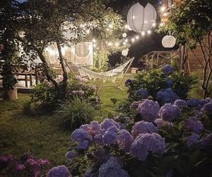 backyard, bohemian, and flowers image