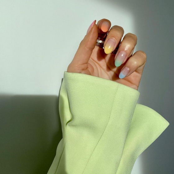 nails, rainbow, and style image