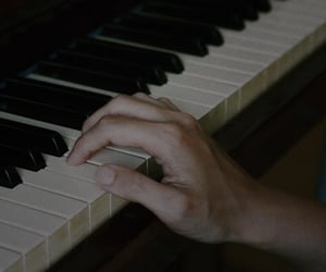 girl, hands, and piano image