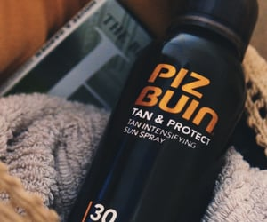 summer, sunscreen, and piz buin image