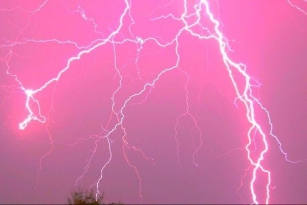 pink, aesthetic, and lightning image