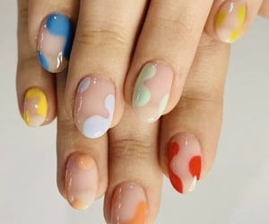 nails, beauty, and colors image