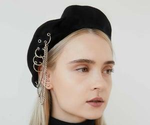 black, cute, and beret image