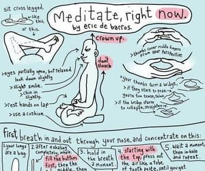 meditation, meditate, and yoga image