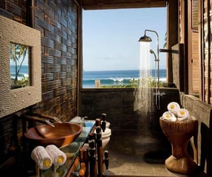 bali, bathroom, and dreamy image