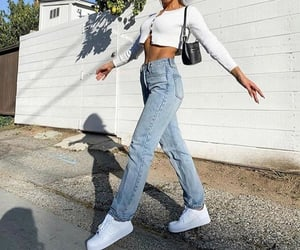 bag, outfit, and sneakers image