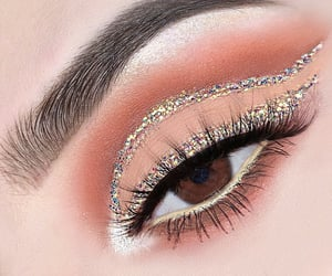 brown eyes, eyeshadow, and lashes image