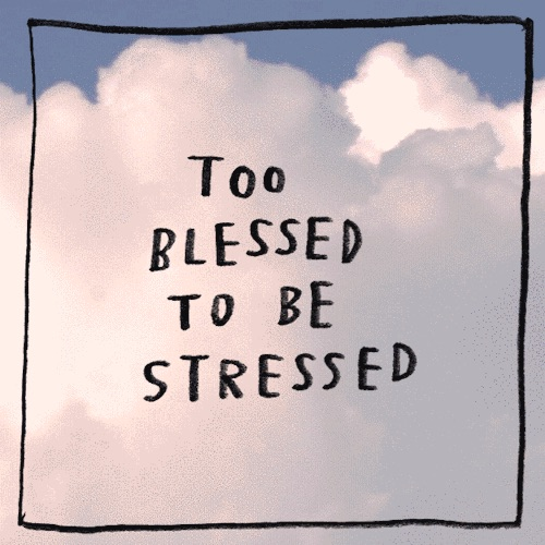 quotes, blessed, and stressed image