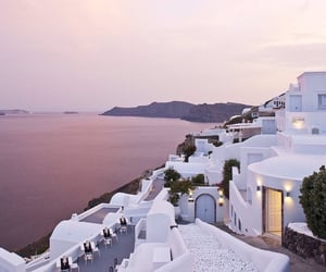 Greece, purple, and travel image