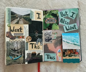 aesthetic, art journal, and camping image