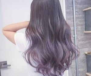 color, purple hair, and hair colour image
