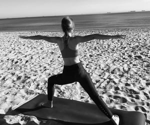 beach, black and white, and body image