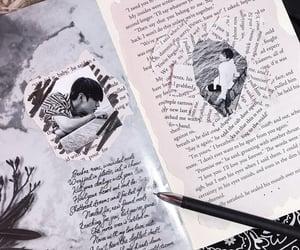 aesthetic, black, and handwriting image