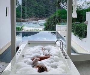 bathroom, luxury, and relax image
