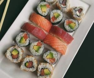 food, japanese, and maki image