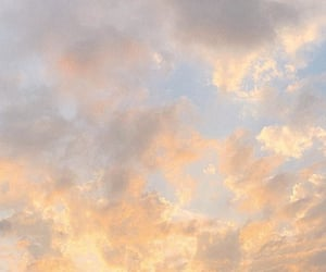 clouds, nature, and orange image