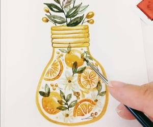 art, lemon, and paint image