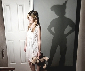 peter pan, shadow, and disney image
