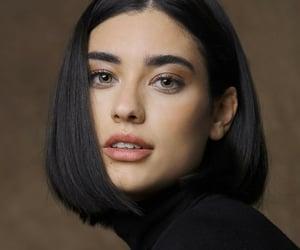 black hair, short hair, and woman image
