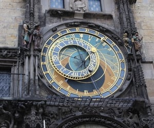 prague, clock, and art image
