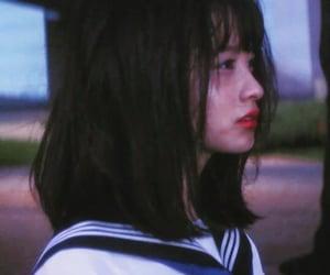asian girl, dark, and uniform image