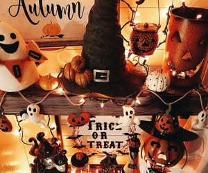 autumn, pumpkin, and trick image