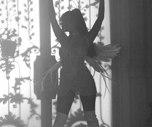 ariana grande, don't call me angel, and black and white image