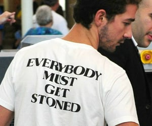 shia labeouf, stoned, and shirt image