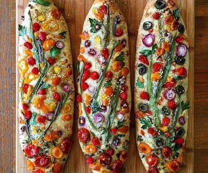 bread, food, and vegetables image