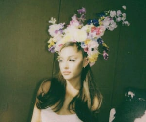 flowers, singer, and ariana grande image
